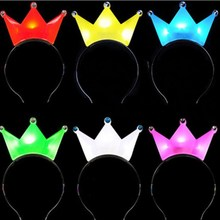 Cute LED crown party headbands light up hair accessories