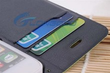 Hot Fashion Credit Card Slot Leather Mobile Phone Case For iPhone 5