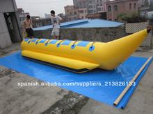 barco de plátano inflable barato con alta calidad y los mejores precios: los materiales de PVC de 0,9 mm