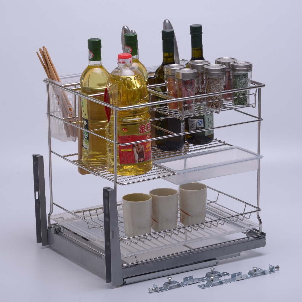 Multifonctionnel cuisine sortir tiroir panier id de for Panier tiroir cuisine