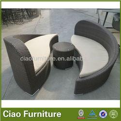 Modern design garden furniture outdoor sun bed with cushion