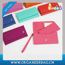 Encai Crown Multiple Ladies Wallet With Mobile Phone Holder Wholesale Lady PU Cards & Tickets Organizer Purse For Women