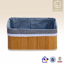 Hot sale full handmade bamboo laundry bag