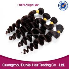 Hermosa loose cabello bundles dobles capas naturales #1 y # 1b del color grandes longitudes del pelo