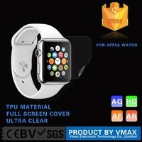 100% Full Screen Cover !! TPU Material Matte Anti-Fingerprint Watch screen protector for Apple Watch