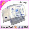 Yason plastic money coin bank use coin bag