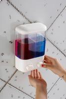 ABS Plastic double hand soap dispenser foam dispenser soap liquid dispenser
