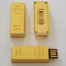 customised usb flash drive golden bar 8gb-64gb,golden bar shenzhen usb flash drive 2gb 4gb
