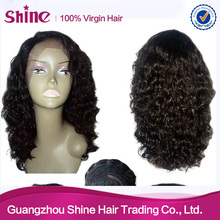 cheap price 2015 new hair styles curly style human hair lace wig