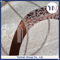 Yoniner--high quality soft material luxury style chenille jacquard pattern window curtain , sofa fabric , door curtain, in 2015