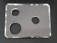 25X20x2cm Clear K9 Crystal Glass Base, Crystal Base Parts Accessory