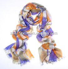100% Cahmere Tulip-printing pashmina shawl