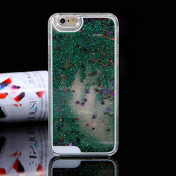Bling Stars Flowing 3D Liquid Star Quicksand Hard PC Back Shell glitter phone case factory, 3d liquid phone case for iphone 6