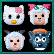 PVC-037 Yiwu Caddy Pleasant Goat and Big Big Wolf kid cute plastic halloween pvc mask for sale, HelloKitty mask