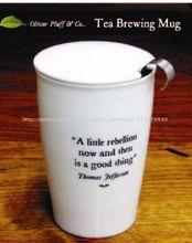 nuevo de calidad del hight venta al por mayor de productos de cerámica de pared doble de infusión de té taza