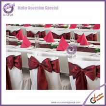 #20821 wholesale wedding and event chairs red bow tie event decoration cheap satin fabric chair sash
