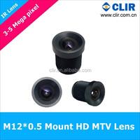 M12*0.5 Mount 2.8mm 3.6mm 6mm 3MP MTV lens For CCTV Camera