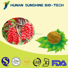 made in china schisandra berry extract/Schisandrins active powder with alcohol dispelling & penis enlargement function