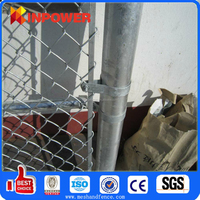 Galvanized /vinyl coated pvc coated chain link fence price/chain link fabric / Low Carbon Steel Diamond Mesh