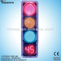 300mm red/green/yellow led traffic signal light with countdown timer