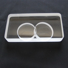 Newest hotsell arch quartz glass plate