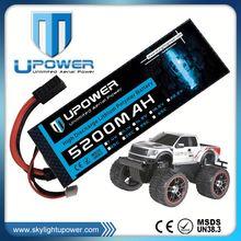 Upower high rate C 5200mah 3.7v rc 1500mah car battery for rc drift car