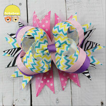Fashion hair accessory big making ribbon bow hair kid headband