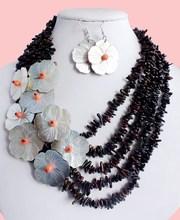 2015 vacanza mare nero insieme dei monili di corallo fashional stile boemia