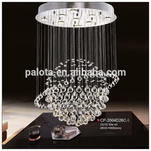 el diseño elegante de araña de cristal para la vida y de comedor y el hotel nueva llegada de iluminación contemporánea