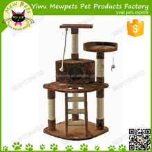 brown round shape fuuny cat play tree pet toys competitive price