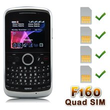 F160 Four SIM Card TV Java CECT cell phone Black
