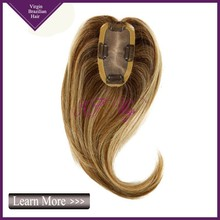 3x5 mono base with clips virgin Brazilian human hair topper wig