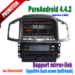 2 din captiva with android 4.4.2 touch screen bluetooth 3g/wifi mirror-link +hotspot+radio/GPS/dvd/mp3/IPOD
