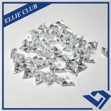 wholesale Triangle Trillion cut White Precious cubic zirconia with AAA Grade