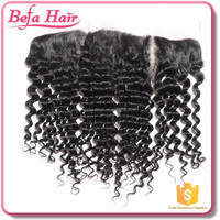 China Manufacturer closure hairpieces hairline natural deep wave 3 part silk base lace frontal