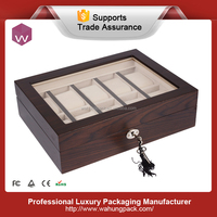 Hottest Design Wooden Watch Box with Window and Pillow (WH-S-071)