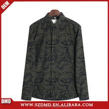 Cotton fabric fashion men's camouflage shirt casual blouse