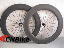Best Value!!! 3K matte 700c road bicycle 88mm tubular carbon wheels with black Novatec hubs and black CN spokes,20/24 holes