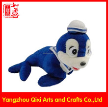 Marine animals toys cute plush seal with sailor hat