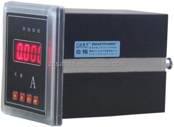 Digital Ammeter Panel Mount : Red led display panel mount ammeter digital meter