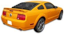 Mach-Speed Rear Window Louvers - Mustang - 2005-2014