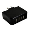 6.8A output Super fast wholesale custome 4 port usb wall charger formobile travel charger adapter