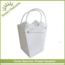 high quality transparent white plastic PP flower carry bag
