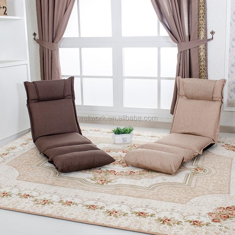 Functional folding floor sofa with fabric buy low floor for Buy floor sofa