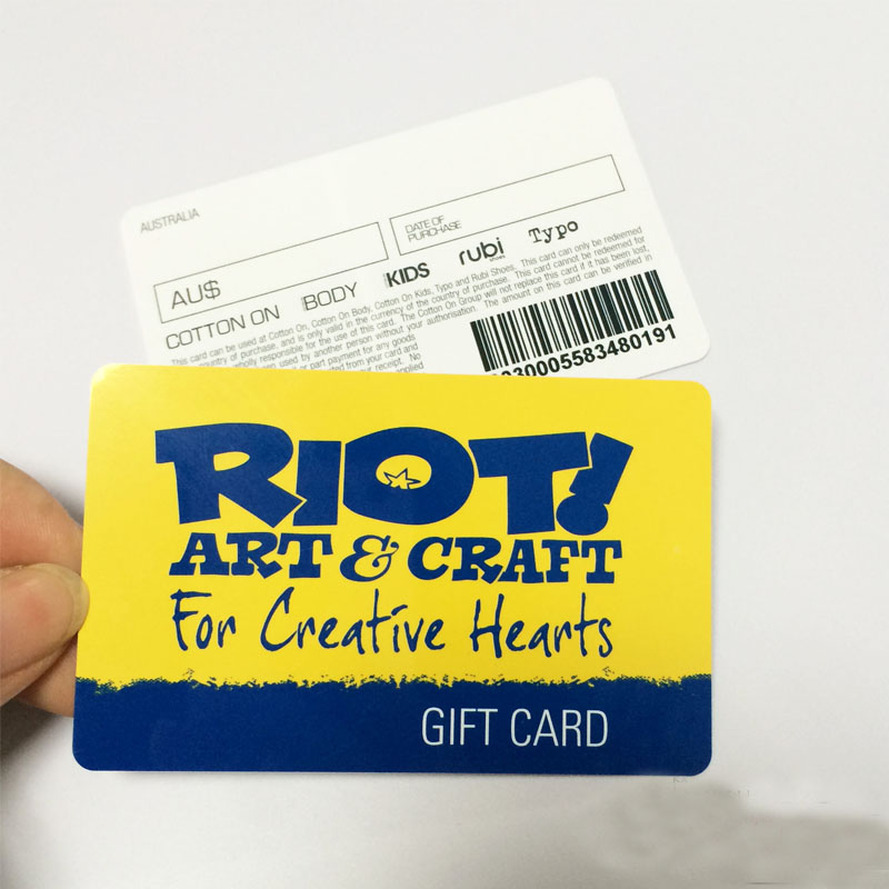 Hot sale low cost non standard pvc gift card for for Gift card program for small business