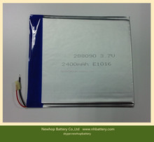 Explosion proof 3mm thickness 288090 3.7v 2400mah lipo battery for tablet pc
