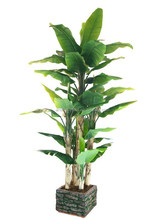 artificial natural touch evergreen banana trees with big leaves manufactory