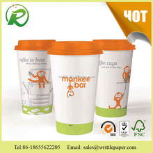 Specialized custom disposable paper tea cup/single wall paper cup