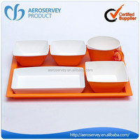 Newest and fashion orange reusable plastic cutlery