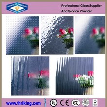 Clear Patterned glass stained glass for interior decoration